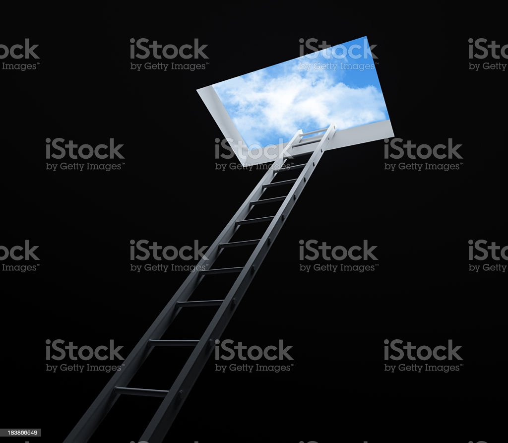Stair moving Up royalty-free stock photo