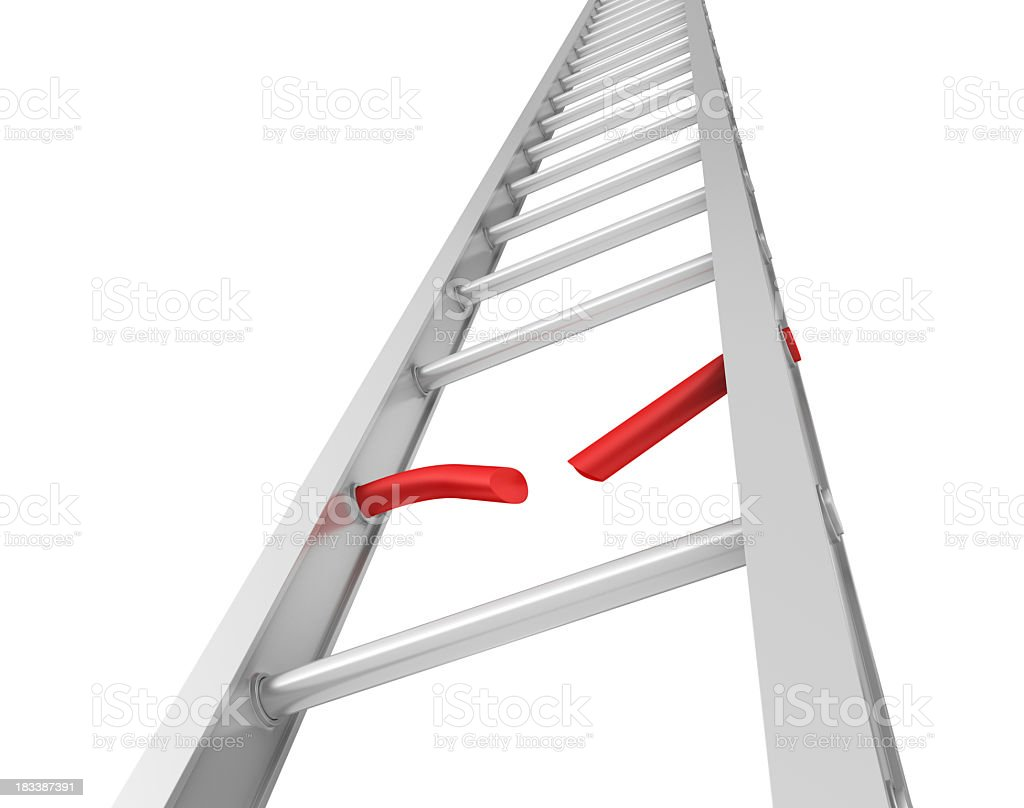 Stair moving Up with Broken Step royalty-free stock photo