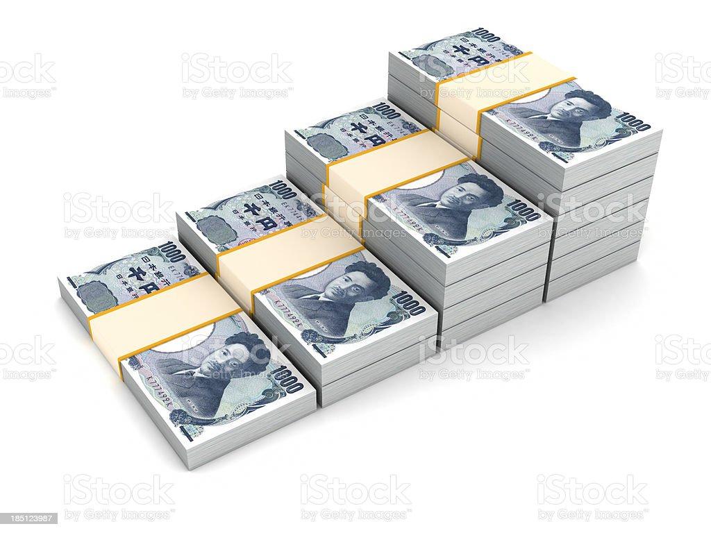 Stair of Yen stock photo