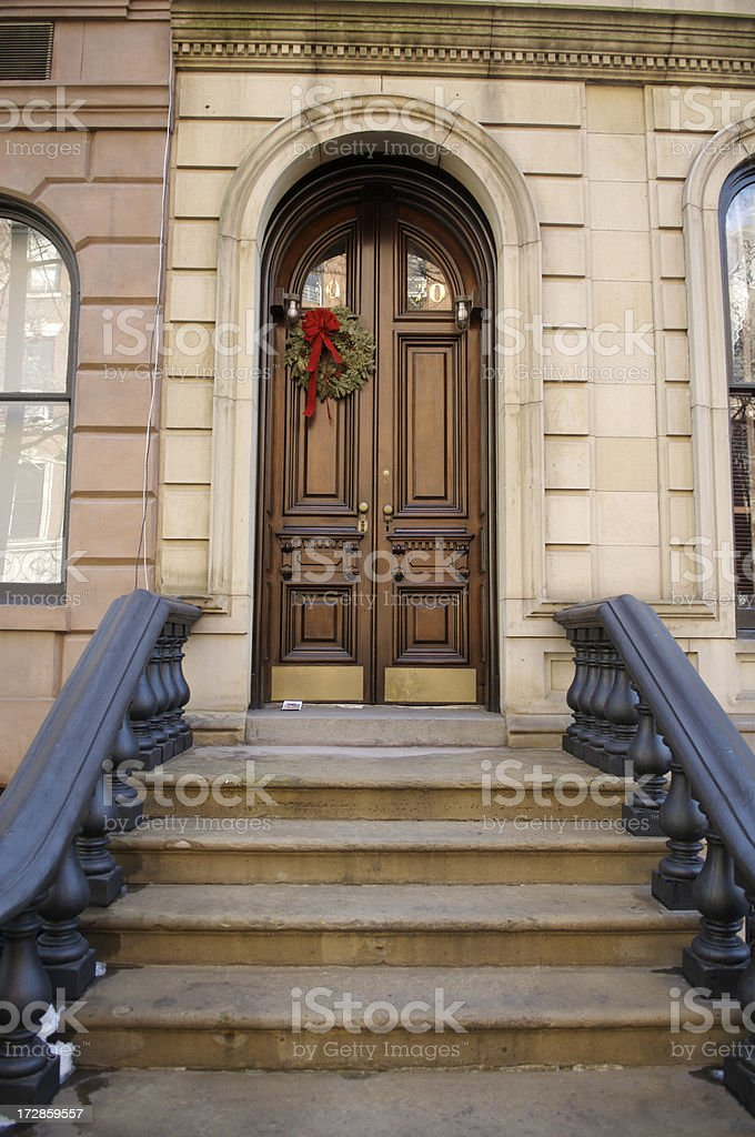 Stair rail in New York City royalty-free stock photo