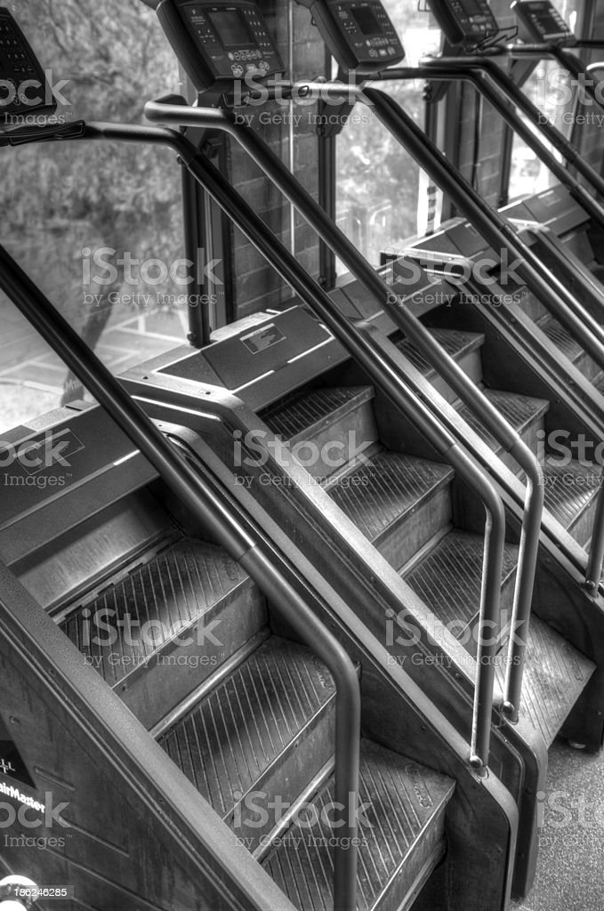 Stair Step Machines at Exercise Gym royalty-free stock photo