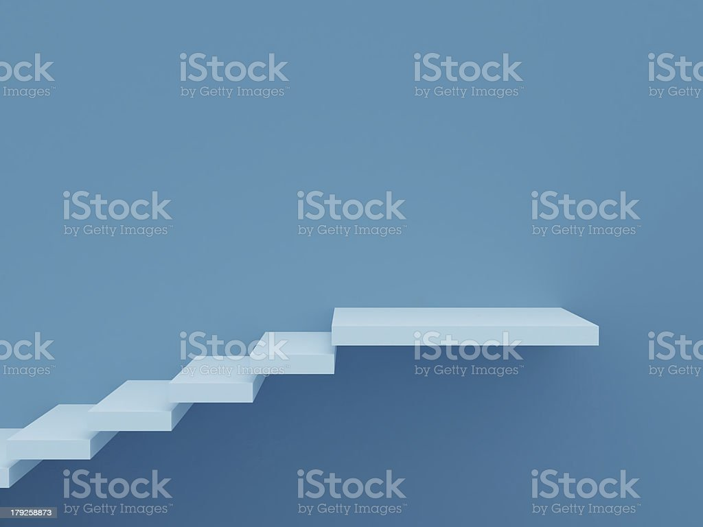 Stair Steps on Blue royalty-free stock photo