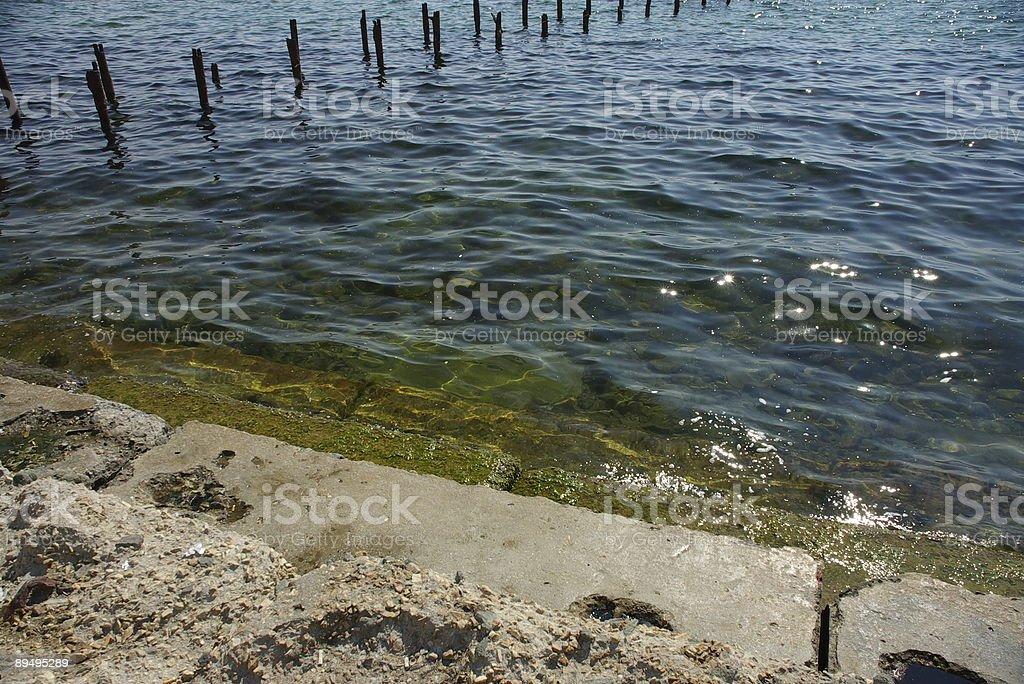 Stair to sea stock photo