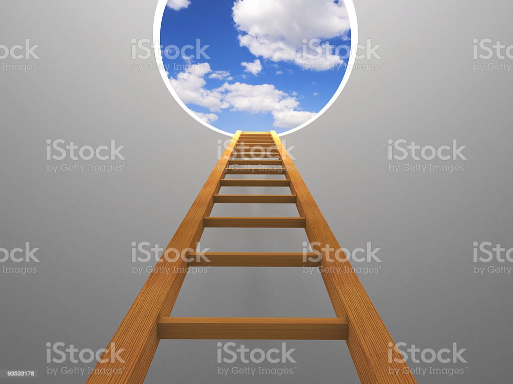 Stair to sky royalty-free stock photo