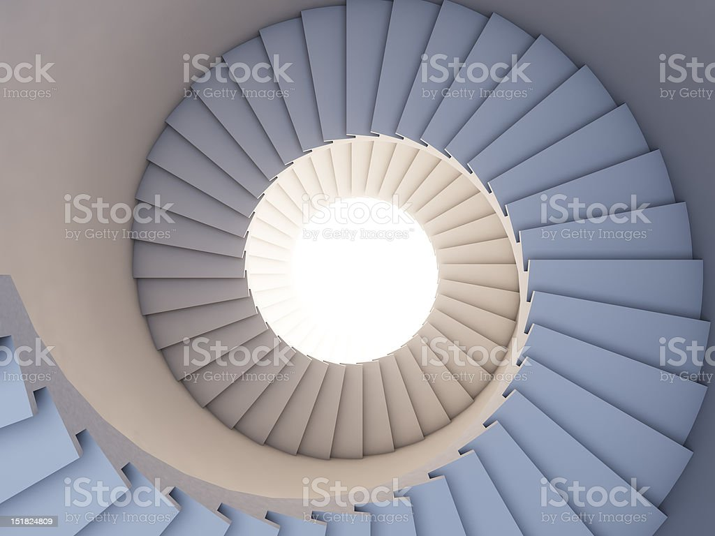 Stair to the future. stock photo