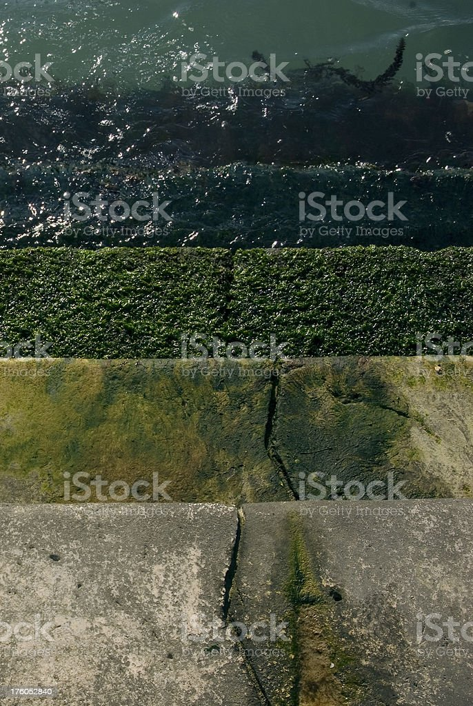 Stair under the sea royalty-free stock photo