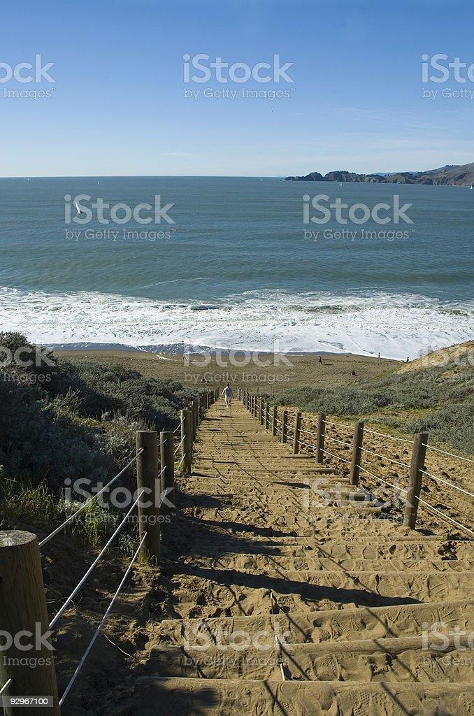 Scale per la spiaggia foto stock royalty-free