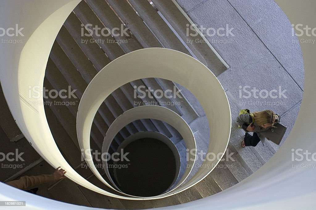 stair with people royalty-free stock photo