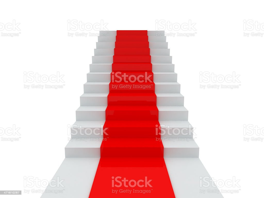 Stair with Red Carpet royalty-free stock photo