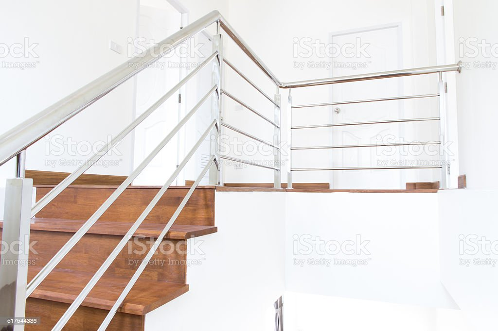 stair wood stock photo