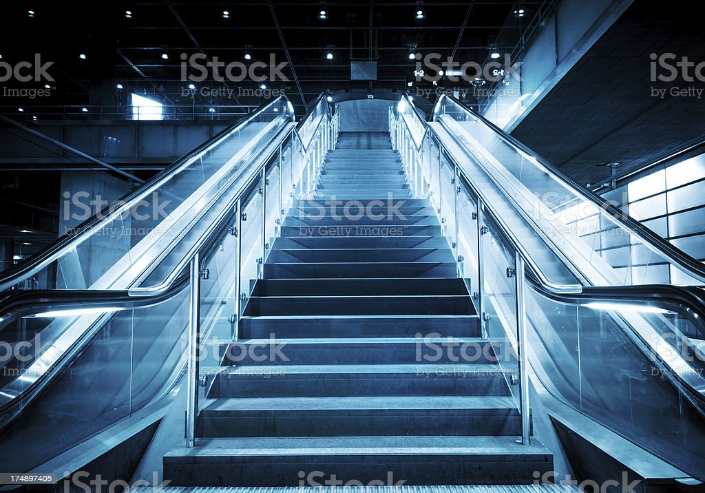 Staircase and Escalator royalty-free stock photo