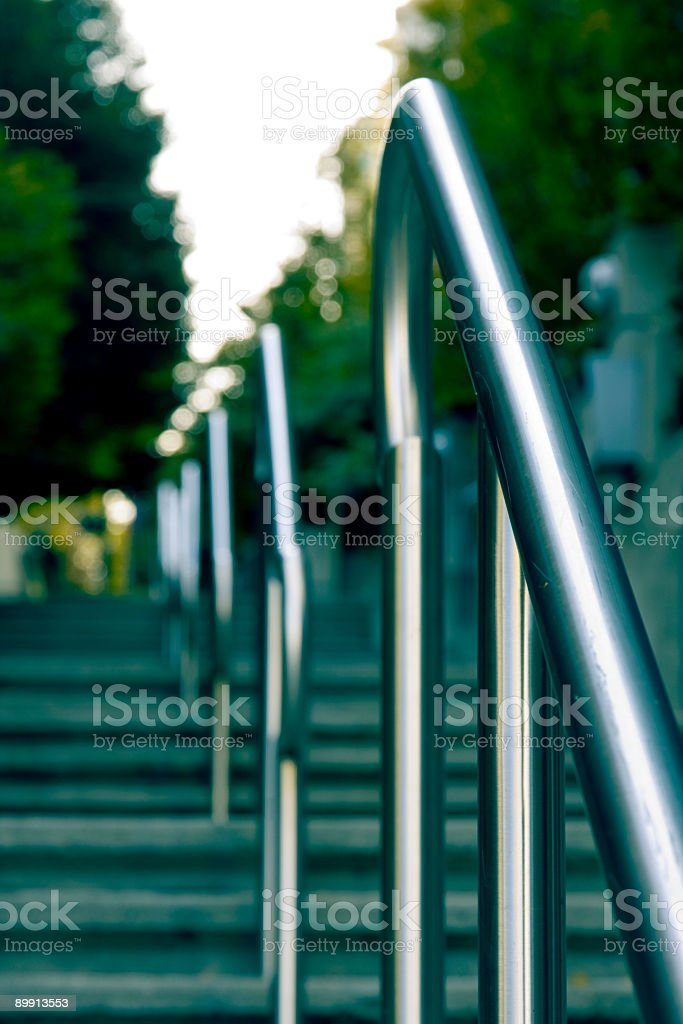 Staircase and Railing royalty-free stock photo