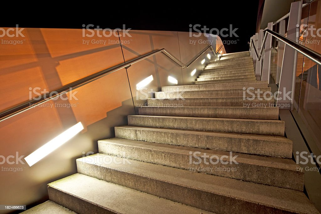 Staircase at night royalty-free stock photo
