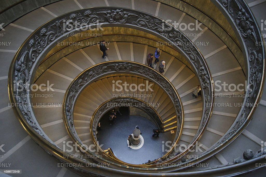 Staircase at Vatican City stock photo