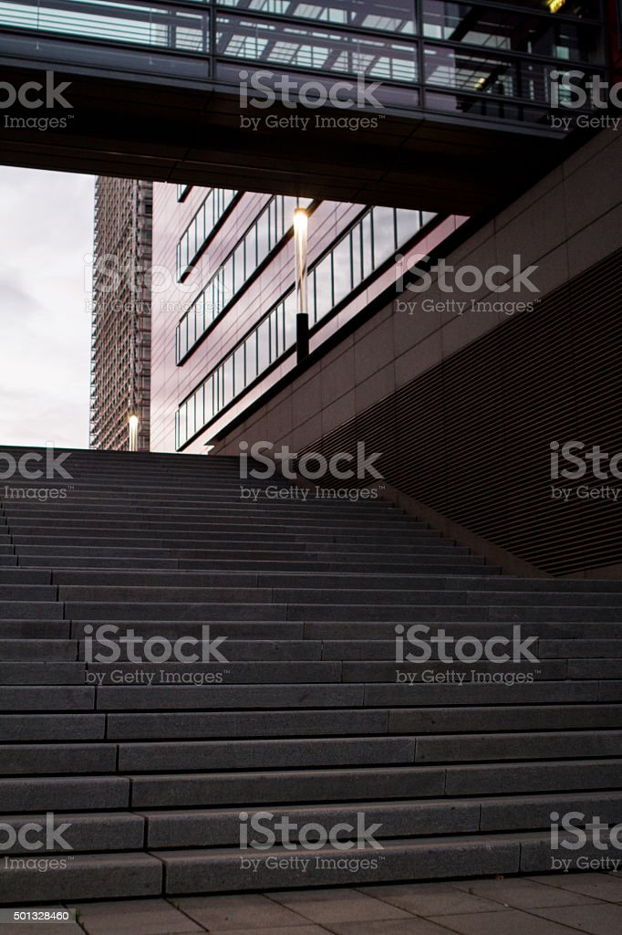 Staircase Bank District stock photo