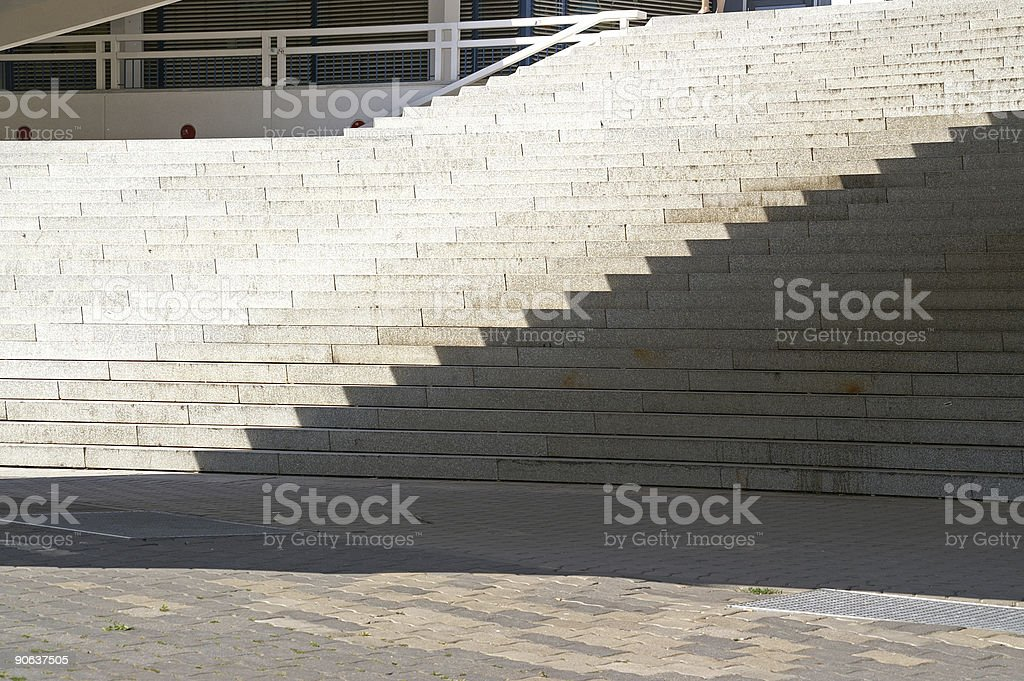 staircase by shadow royalty-free stock photo