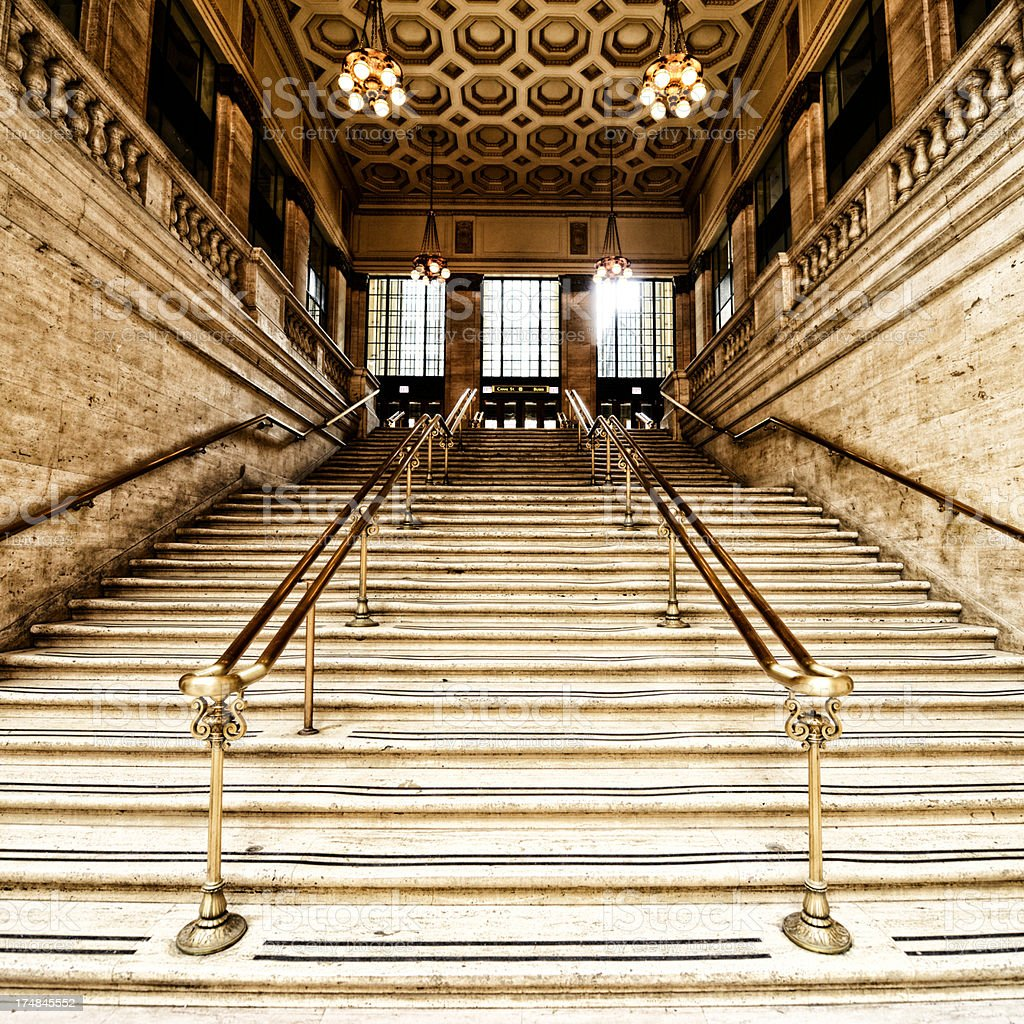 Staircase, Chicago stock photo