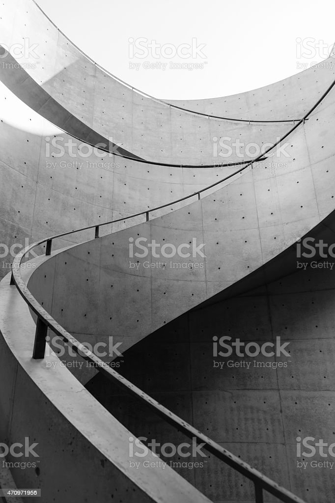 Staircase design Architecture details stock photo