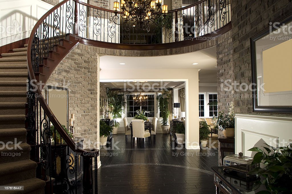 Staircase Dinning Home Interior royalty-free stock photo