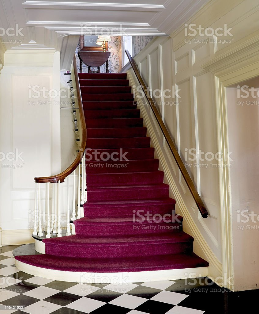 Staircase - Early 19th Century American stock photo