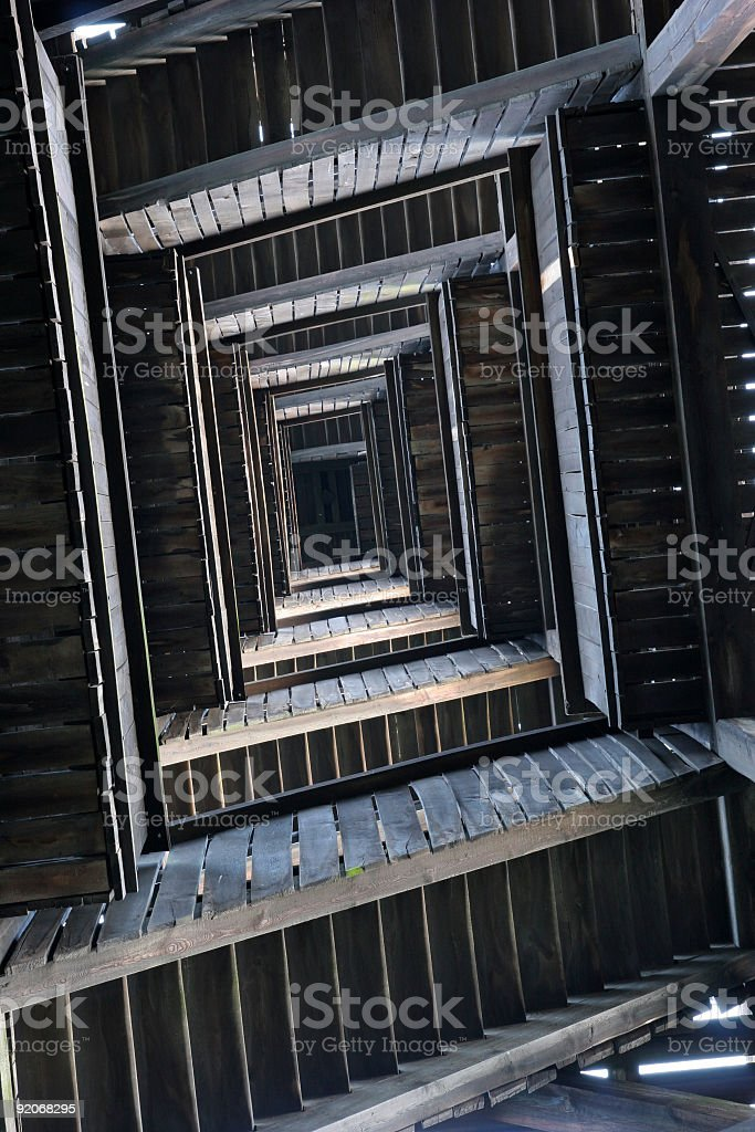 Staircase from below royalty-free stock photo