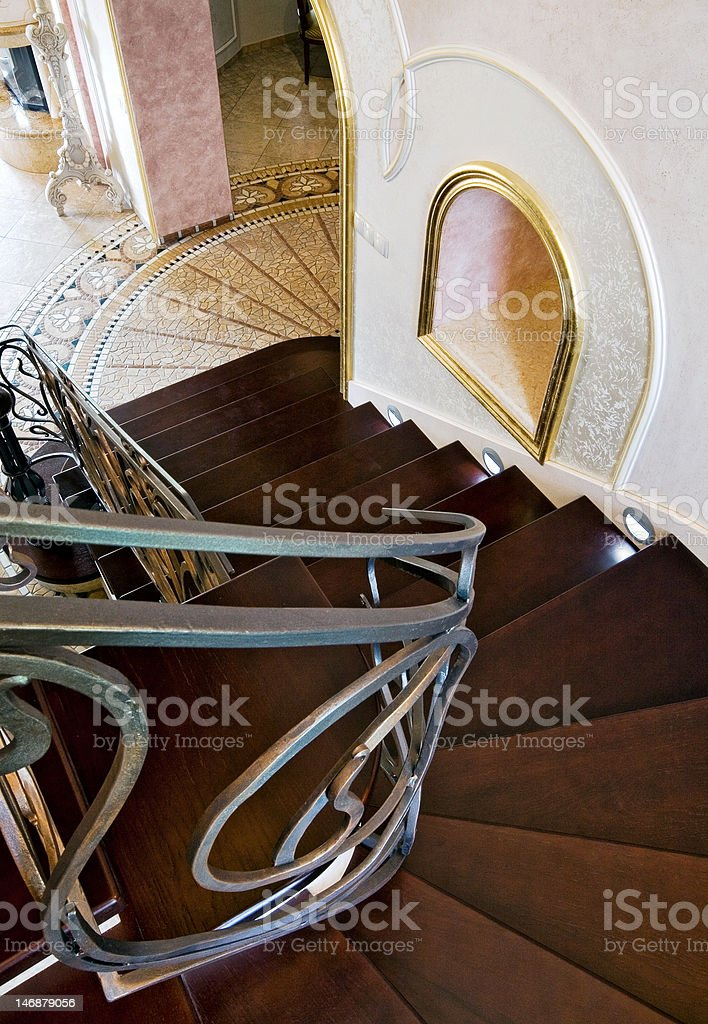Staircase in a classic interior royalty-free stock photo
