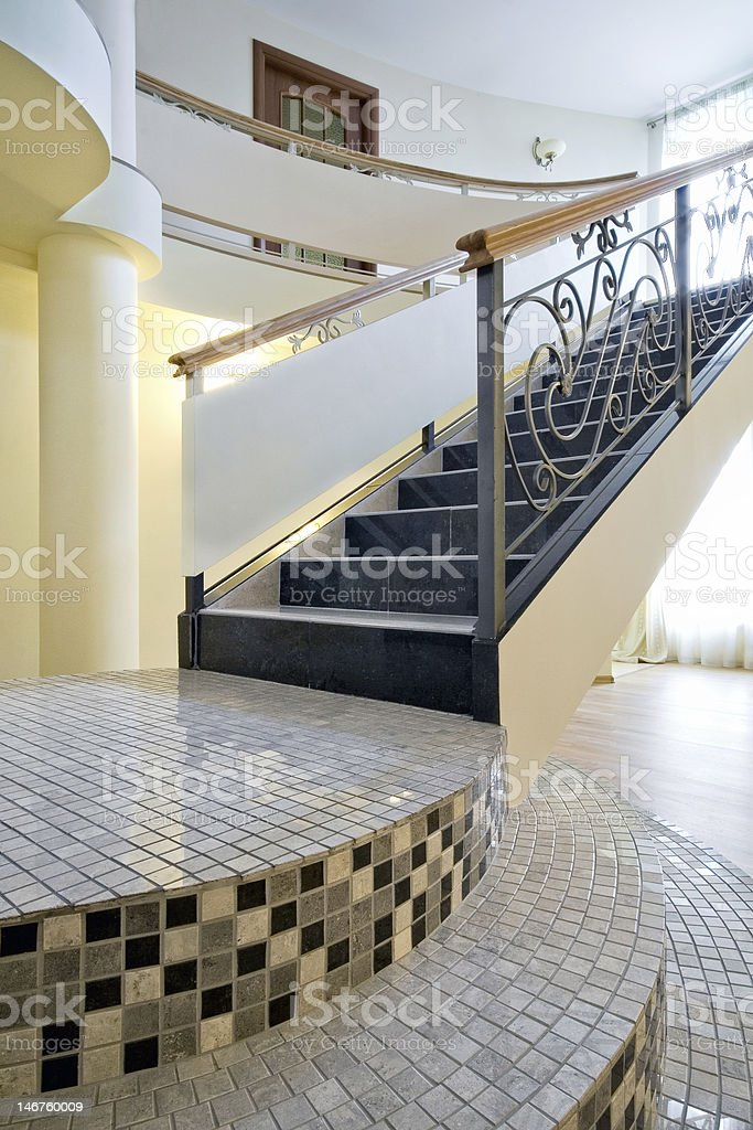 Staircase in a new interior royalty-free stock photo