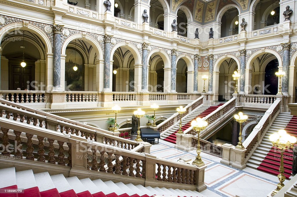 staircase in a palace royalty-free stock photo