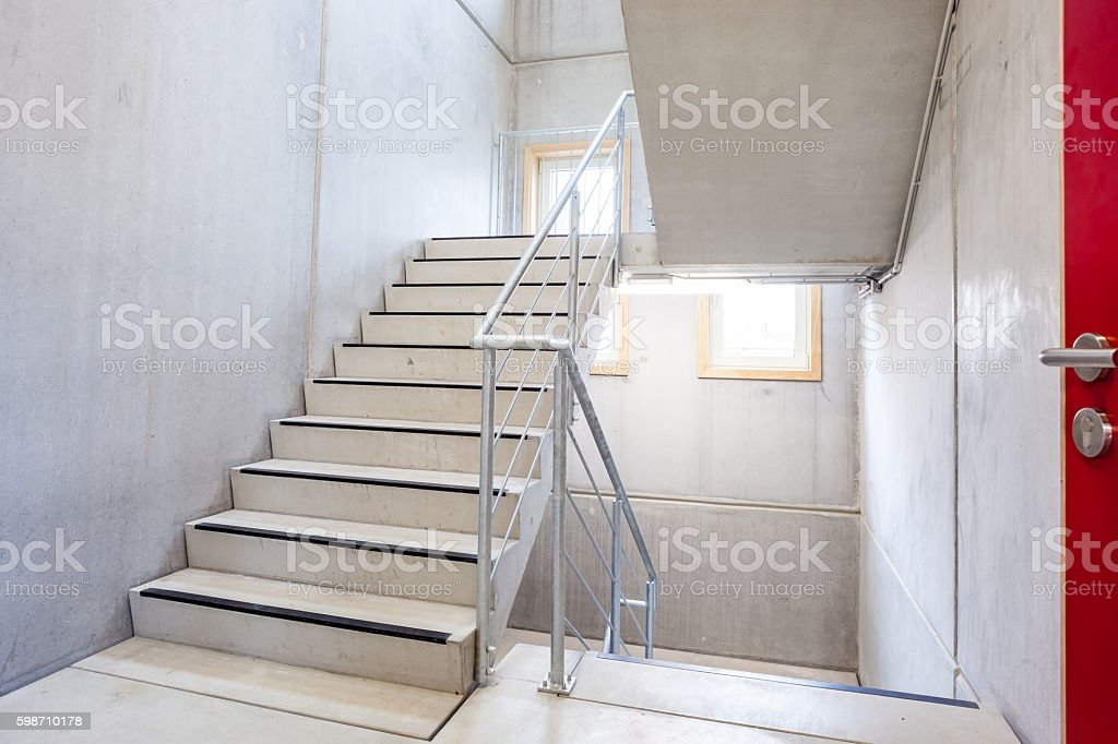 staircase in an building stock photo