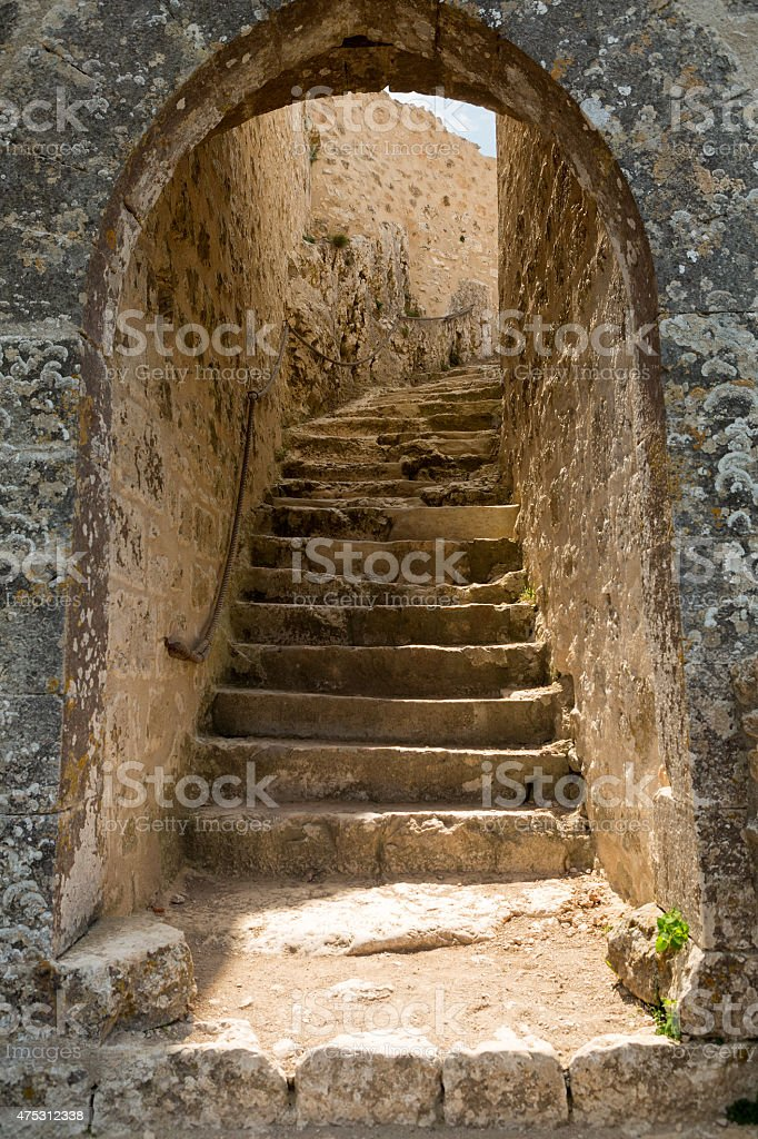Staircase in Castle stock photo