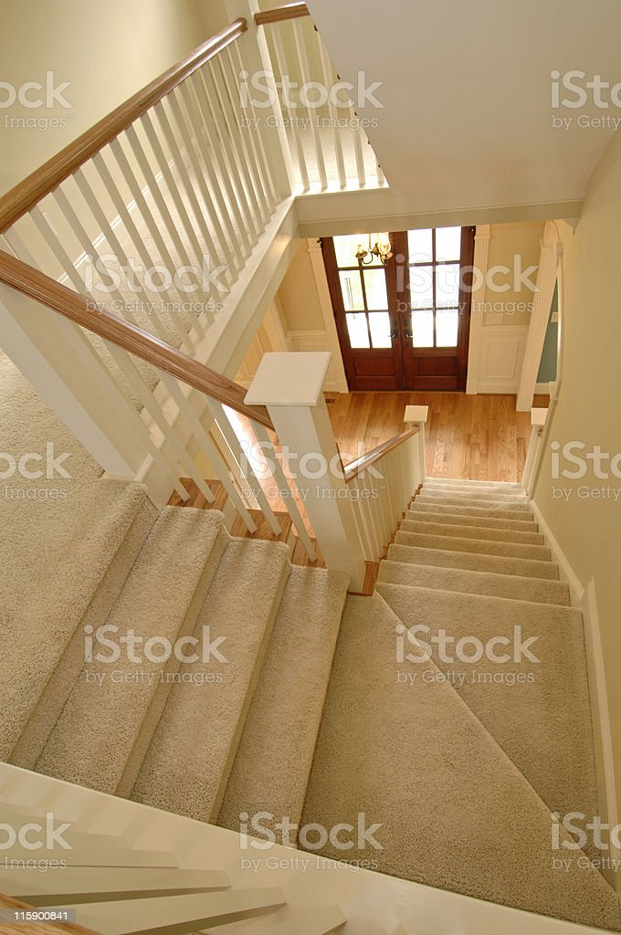 Staircase in High End Home royalty-free stock photo