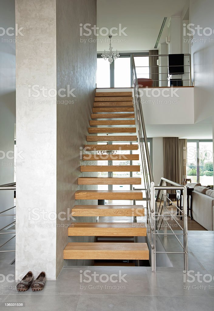 Staircase in modern home royalty-free stock photo