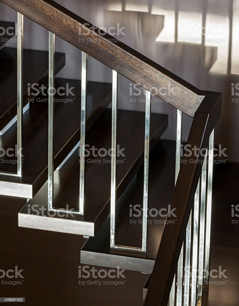 Staircase in modern interior stock photo