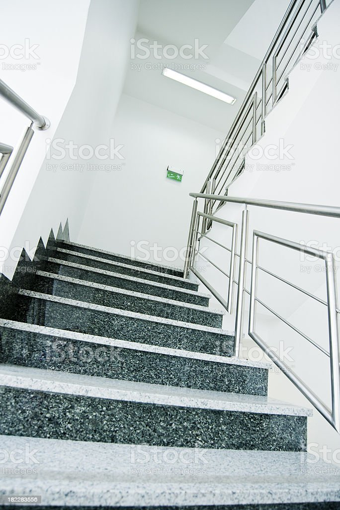 staircase in office building stock photo