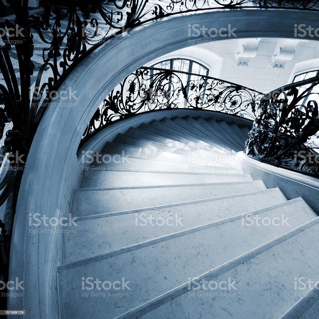 Staircase in Paris stock photo