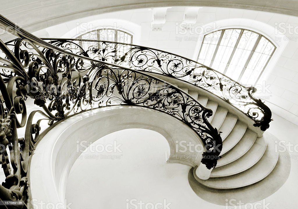 Staircase in Paris stock photo