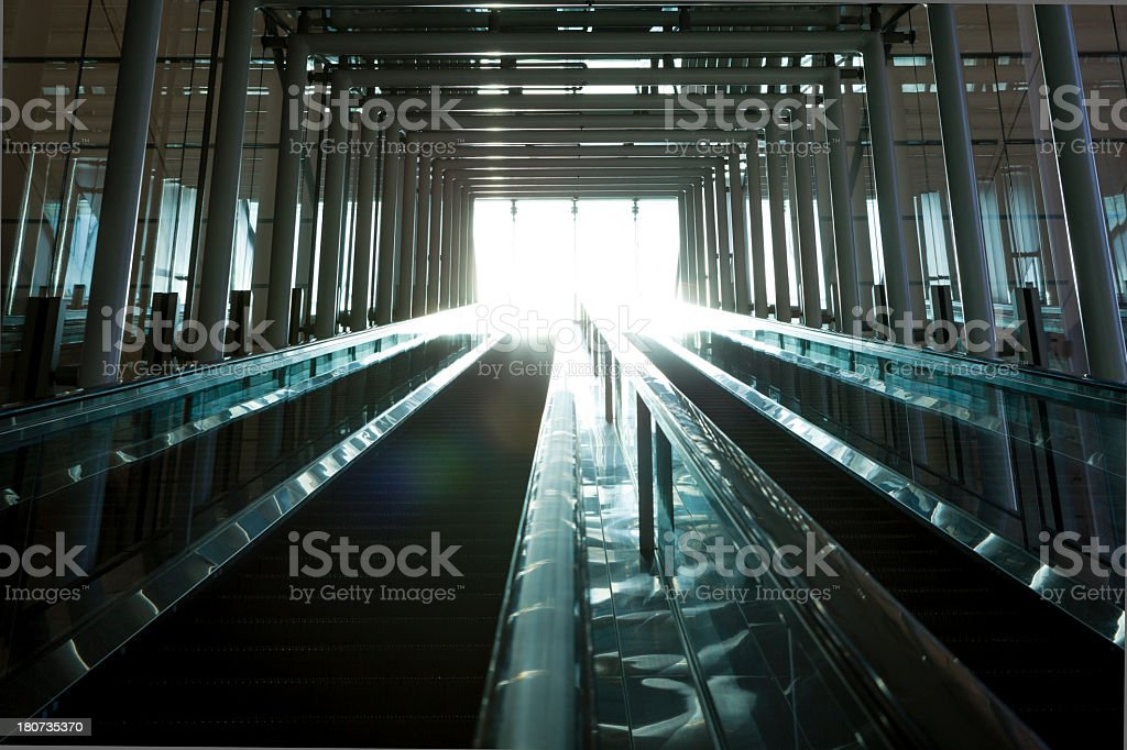 Staircase leading to other side of the light royalty-free stock photo