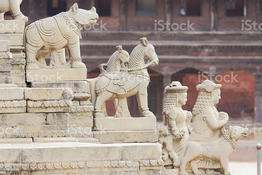 Staircase of the Siddhi Lakshmi temple-Bhaktapur-Nepal. 0265 royalty-free stock photo