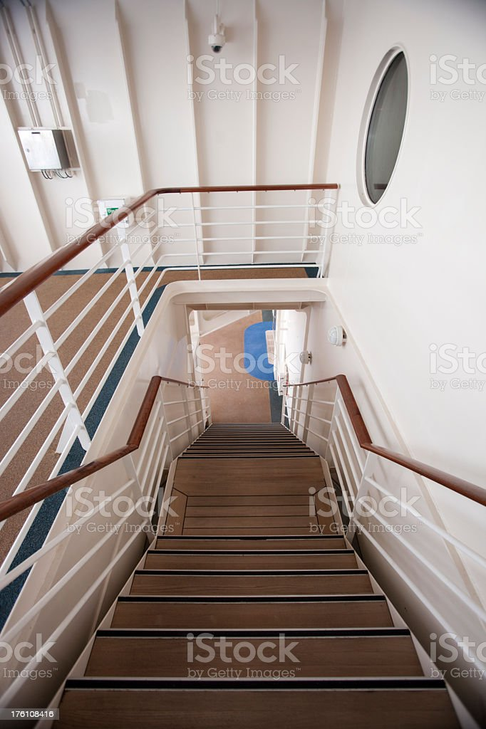 Staircase on a ship royalty-free stock photo