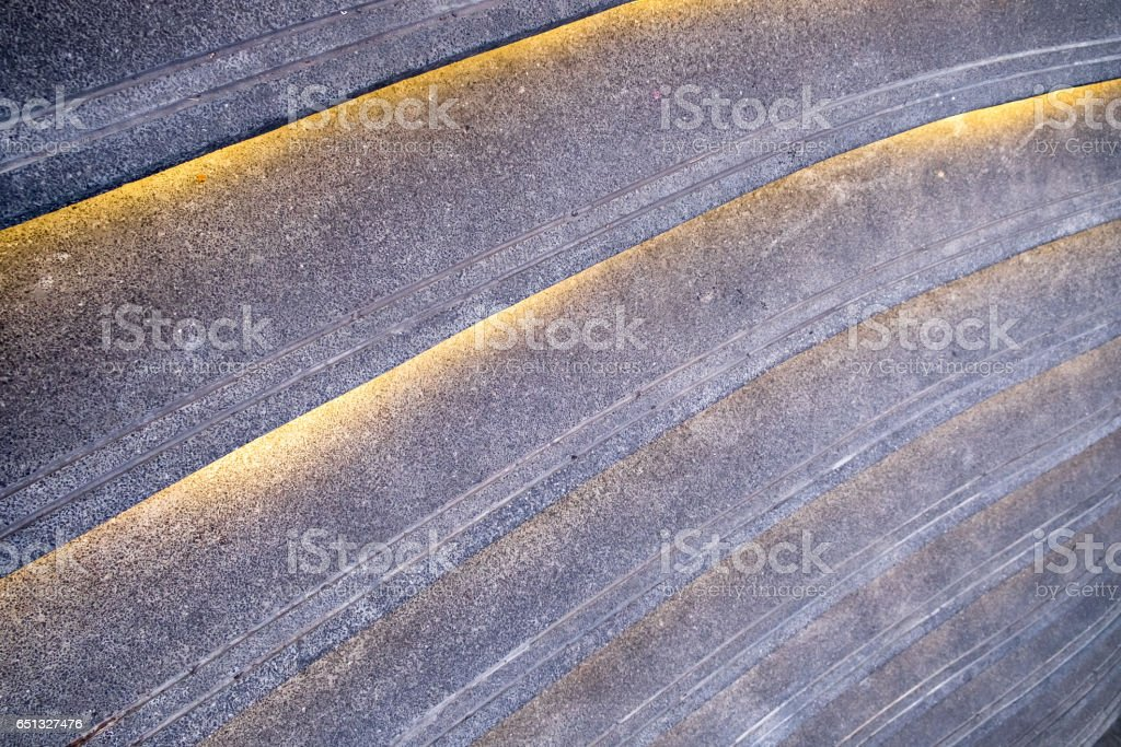 Staircase pattern decorate line light stock photo
