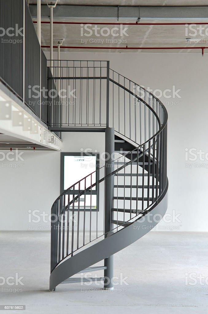 escalera de caracol foto de stock