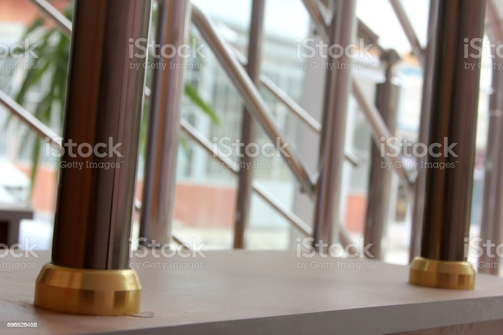 staircase railing stock photo
