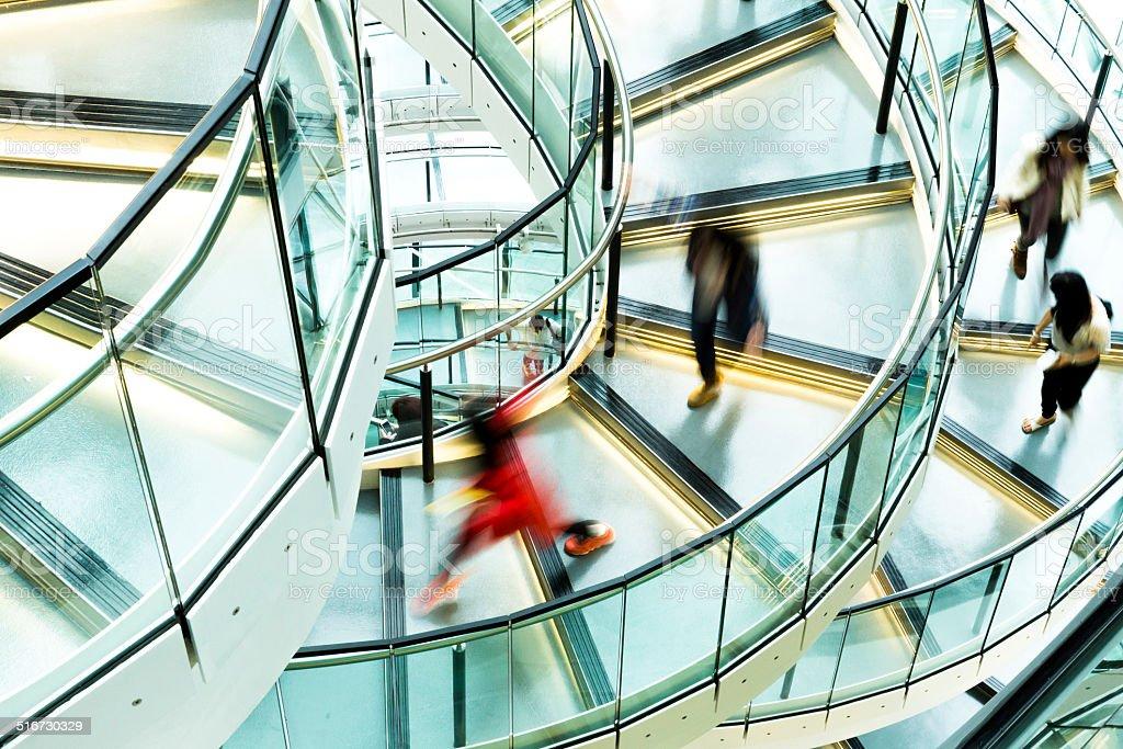 Staircase Rush stock photo