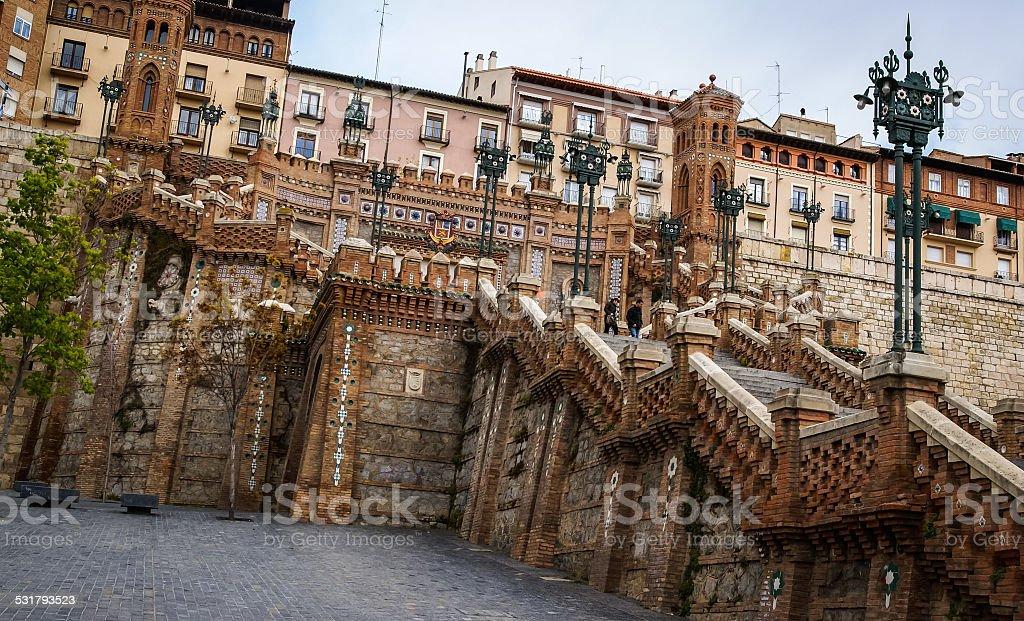 Staircase, Teruel, Aragon, Spain stock photo