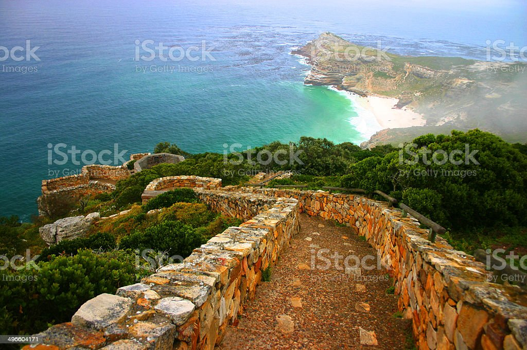 Staircase to the Ocean stock photo