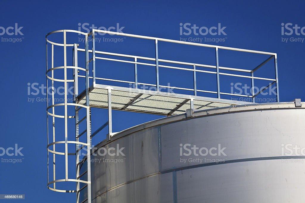 Staircase to the silo royalty-free stock photo