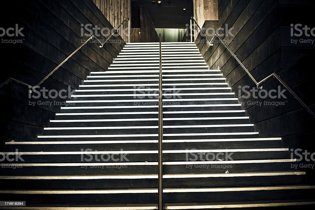 Staircase to the Underground royalty-free stock photo