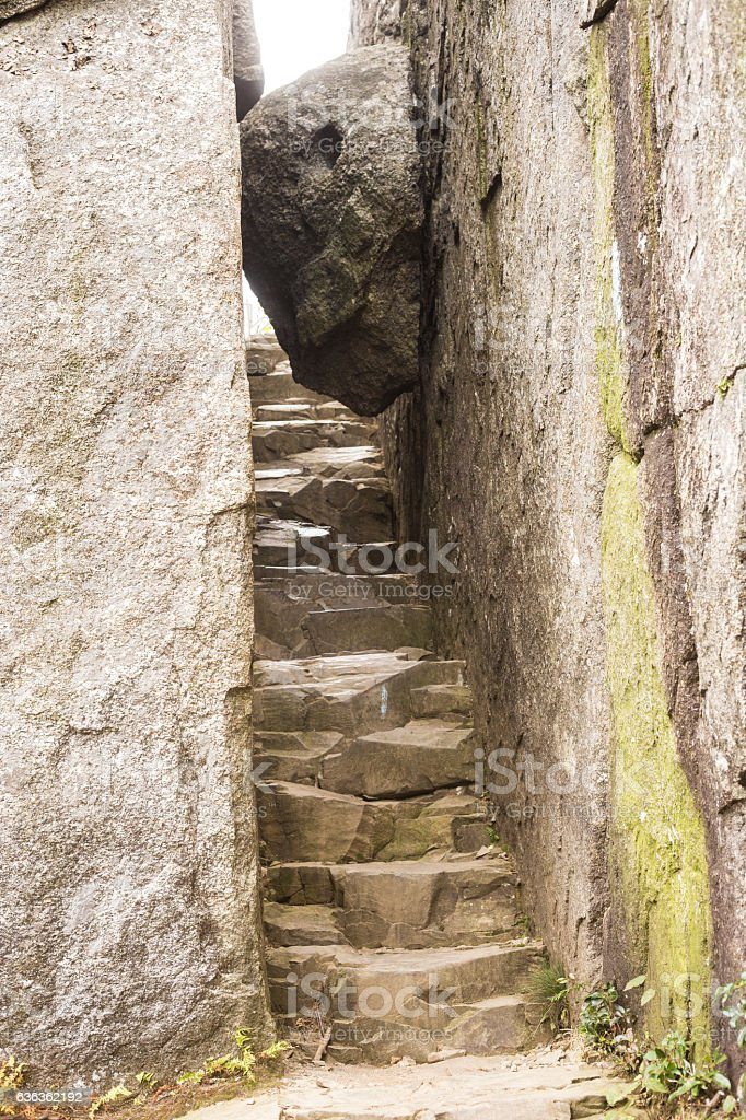 Staircase to the Unknown stock photo