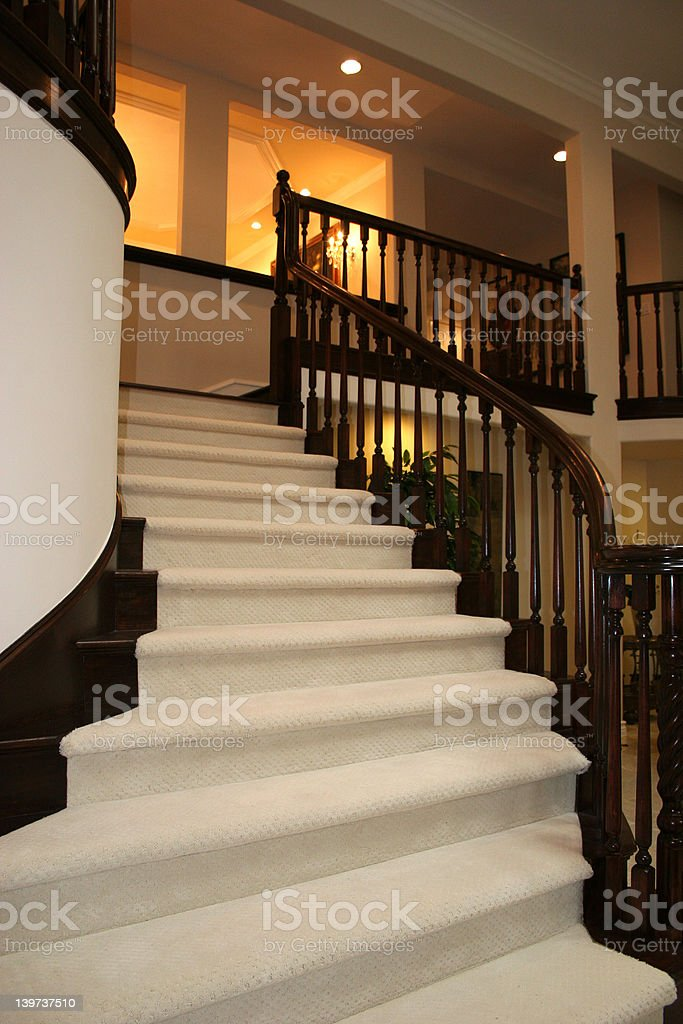 Staircase to the upper living room royalty-free stock photo