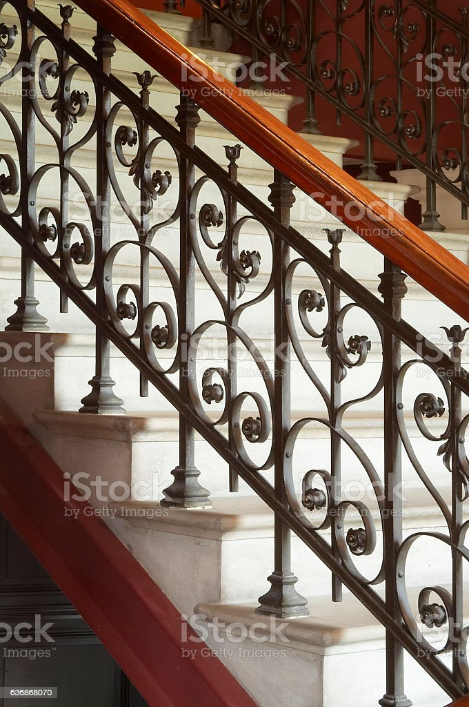 Staircase with decoration stock photo